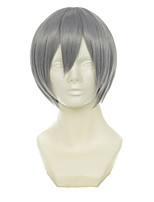 Young Alliance Azuma Kouichi Mixed Grey Short Straight Cosplay Wig