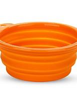 Кошка Кормушки Животные Чаши и откорма На каждый день Оранжевый Пластик