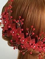 Vrouwen Licht Metaal / Acryl / Net Helm-Bruiloft / Speciale gelegenheden / Informeel Bloemen 1 Stuk