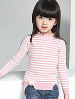 Girl's Casual/Daily Striped Sweater & CardiganWool Winter / Spring / Fall Black / Pink
