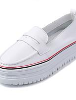 Черный / Красный-Женский-На каждый день-Наппа Leather-На платформе-Удобная обувь-Мокасины и Свитер