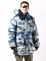 Hiking Softshell Jacket Men's Breathable / Thermal / Warm / Windproof / Wearable Winter Cotton Camouflage Camping