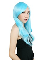 Neitsi 22-24'' Long Wavy Synthetic BOB Wigs Full Cospaly Party Amine Wedding Custome Hair Wigs Light Blue