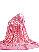 Flannel Multi-color,Solid Polka Dots 100% Polyester Blankets 200x230cm