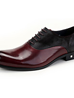 Men's Oxfords Brogue Genuine Leather Wedding/Office&Career/Party&Evening/Casual Flat Heel