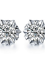 Fine S925 Silver AAA Zircon Stud Earrings