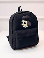 Unisex Canvas Casual Backpack Black