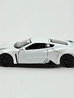Action Figure / Play Vehicles Model & Building Toy Car Metal White / Yellow / Silver For Boys Above 3