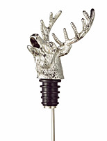 Deer Head Wine Pourer Bottle Cork Pourer Deer Stag Wine Stopper Aerator Barware