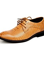 Westland's Men's Oxfords Leather Office/Crocodile pattern/ Business Style/ Casual /Black/Brown/Yellow