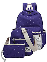 Women Canvas Casual Backpack Blue / Red / Black