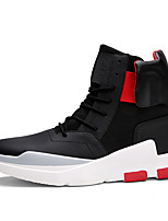 Men's Boots Fall / Winter Comfort Leather Office & Career / Athletic / Casual Black / Red / Black and White
