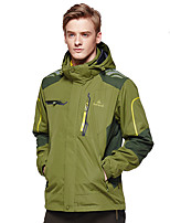 Hiking Softshell Jacket Men's Waterproof / Breathable / Thermal / Warm / Windproof / Wearable Fall/ Winter Polyester