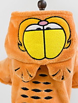 Hunde Mäntel Orange Hundekleidung Winter Karton Niedlich / Lässig/Alltäglich /
