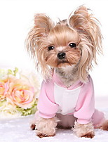 Dog Shirt / T-Shirt / Sweatshirt Blue / Pink Dog Clothes Winter / Spring/Fall Color Block Cute / Casual/Daily
