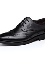 Men's Oxfords Spring Fall Comfort Leather Synthetic Office & Career Party & Evening Flat Heel Black Brown