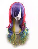 bon marché perruques chaleur perruques synthétiques de couleur ombré cosplay perruque résistant