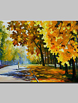 Hand Painted Knife Landscape Oil Painting On Canvas Modern Abstract Wall Art Picture For Home Decoration Ready To Hang