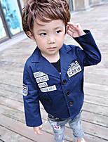 Boy's Casual/Daily Print Jacket & CoatCotton Winter Blue / White