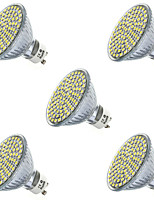 7W GU10 / GX5.3 LED-spotlampen MR16 80led SMD 2835 650lm lm Warm wit / Koel wit Decoratief V 5 stuks