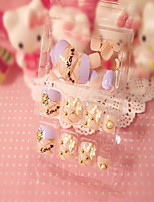 Pink Toenails Nail Stickers 3D 24 Diamond Nail Glue Product Toes