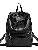 Women PU Formal / Sports / Casual / Event/Party / Outdoor / Shopping Backpack Black