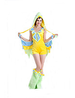 Cosplay Costumes Animal Movie Cosplay Yellow Solid Leotard/Onesie Halloween / Carnival Female Polyester