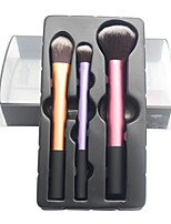 3 Makeup Brushes Set Nylon Professional / Portable Wood Face / Eye