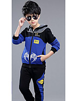 Boy Casual/Daily Print Sets,Cotton Winter ¾ Sleeve Clothing Set