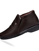 Men's Loafers & Slip-Ons Spring / Fall Comfort PU Casual Flat Heel Slip-on Black / Brown Sneaker