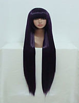 Anime Inu x Boku SS Ririchiyo Shirakiin 100cm Long Straight Purple Cosplay Wig Lady Halloween Wig