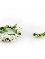 Dame Tyll Stoff Hodeplagg-Bryllup Spesiell Leilighet Avslappet Kranser 2 deler