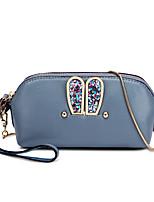 Women-Casual-PU-Shoulder Bag-Beige / Pink / Blue / Gray / Black