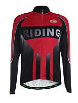 Sportif Maillot de Cyclisme Homme Manches longues Vélo Respirable / Garder au chaud / Zip frontal / Pocket Retour / Tissu Ultra Léger