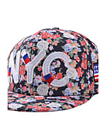 Country Style Casual Letter Flag Embroidery Floral Patterns Print Hip-Hop Flat Baseball Caps For Men And Women