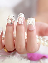 Super Beautiful Pearl Nail Manicure Paragraph Bride Patch Fake Nails Nail Manicure Finished Piece