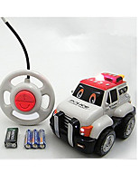 Car Racing 566-16A 110 Brush Electric RC Car / 2.4G White Ready-To-Go Remote Control Car