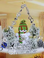 decoraciones del árbol de navidad colgante de la placa de deslizamiento / color al azar