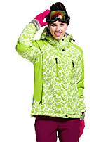 Hiking Softshell Jacket Women's Waterproof / Breathable / Thermal / Warm / Windproof /  Winter Terylene Green / Purple