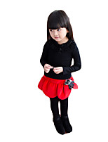 Girl's Casual/Daily Solid LeggingsCotton Winter Red