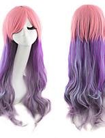 длинные волнистые ломбера цвета дамы синтетические волосы парик