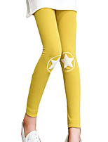 Girl's Casual/Daily Solid LeggingsCotton / Spandex Spring / Fall Pink / Yellow / Gray