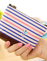 Naval Stripe Textile Change Purse