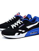 Men's Sneakers Spring / Fall Comfort Tulle Athletic Flat Heel Others / Lace-up Black / Blue / Red Sneaker