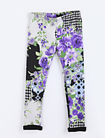 Girl's Casual/Daily Print Pants / LeggingsCotton Fall Purple