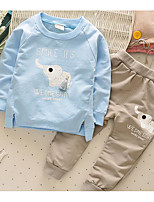 Boy's Casual/Daily Print Clothing SetCotton Spring / Fall Blue / Pink