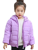 Girl Casual/Daily Solid Down & Cotton Padded,Cotton Winter Long Sleeve