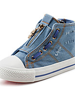 Boy's Boots Spring / Fall Comfort Canvas / Cotton Outdoor / Casual Flat Heel Zipper Blue Walking / Sneaker