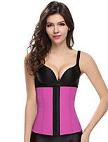 Unisex Underbust Corset NightwearSexy Solid-Medium Polyester Pink / Purple / Blue / Black Women's