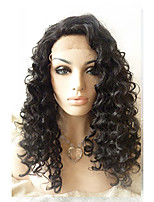 Sylvia Synthetic Lace front Wig Black Hair Heat Resistant Long Loose Wave Synthetic Wigs